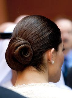 Hair Dryer On Crown Princess crown princess opted for an low chignon