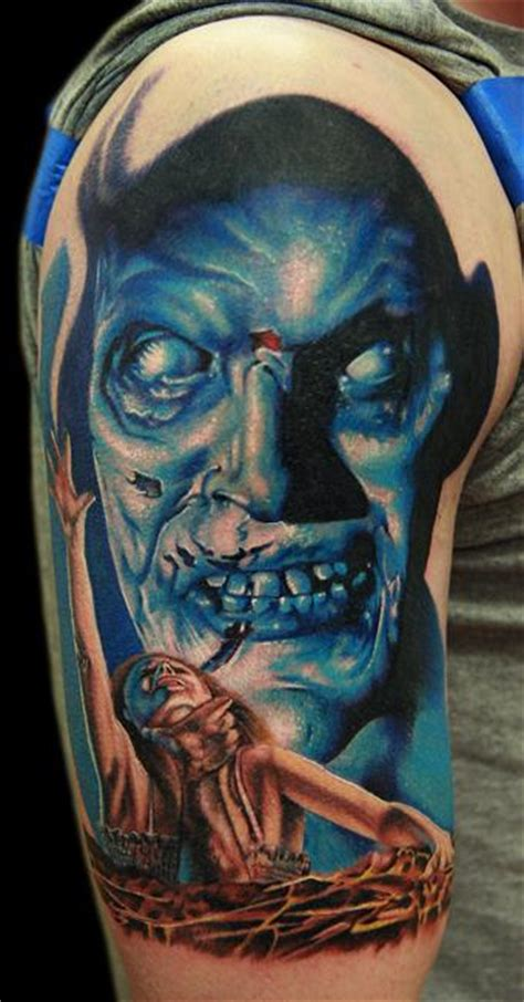 evil dead tattoo cecil porter illustration tattoos horror evil dead