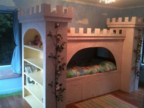 bunk beds castle princess castle bunk bed home nursery shelves beds and castles