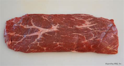 the top blade or flat iron steak cut