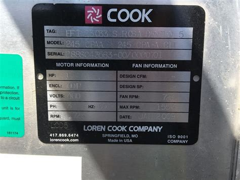 loren cook exhaust fans loren cook centrifugal blower exhaust fan 245 cpaa ebay