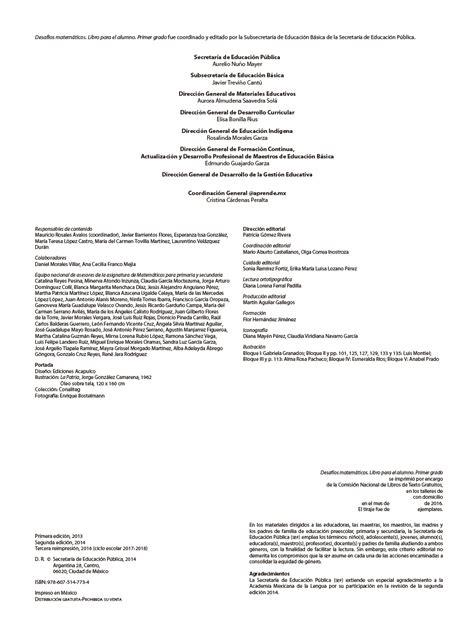 ciclo escolar centro de descargas libros de texto en desaf 237 os matem 225 ticos primer grado 2017 2018 ciclo