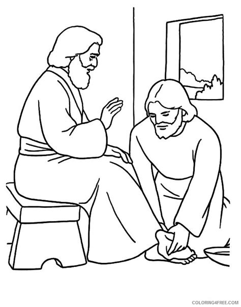 jesus washes the disciples coloring page jesus coloring pages printable free coloring4free