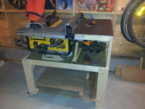 Dewalt Table Saw Dw745 by Dewalt Dw745 Table Saw Station With Router Woodworking