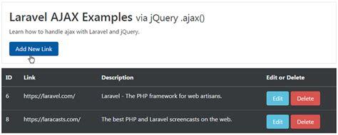 laravel development tutorial laravel ajax crud tutorial web development tutorials