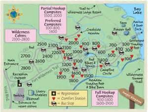 fort wilderness color map by passporter passporter photos