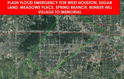 houston flooding map may 2015 flash flood emergency for southwest harris and northern