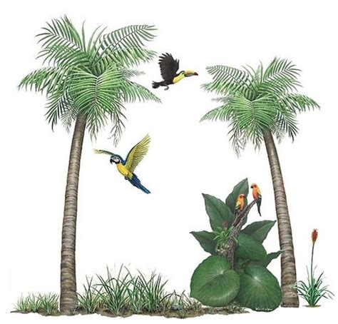 palm tree wall murals painting palm trees on walls images