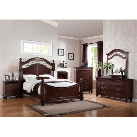 4pc bedroom set cleveland 4pc bedroom set