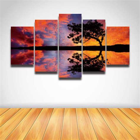 2016 sale real paintings fallout unframed 5 panels eiffel popular nature wall art buy cheap nature wall art lots