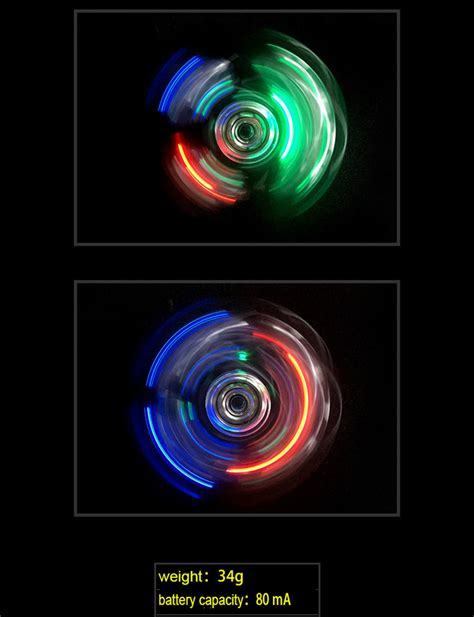 Fidget Spinner Led Transparan Toys Quality Spinner Murah buy wholesale led light fidget spinner edc switch