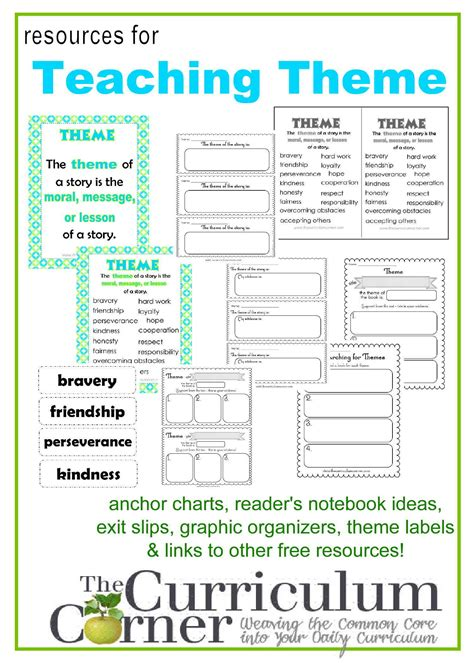 themes in reading list teaching theme in reading teaching themes reading
