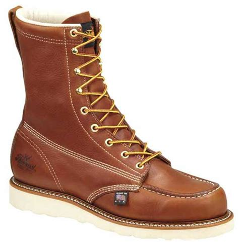 thorogood 804 4208 usa made 8 inch wedge sole safety toe boots