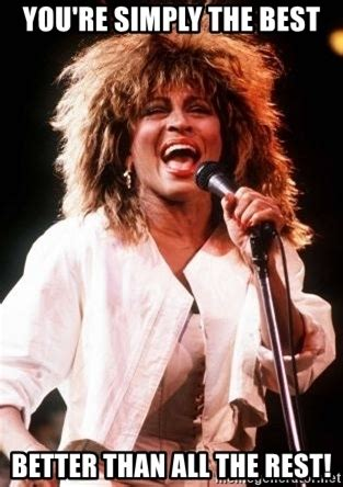 tina turner you are the best you re simply the best better than all the rest the