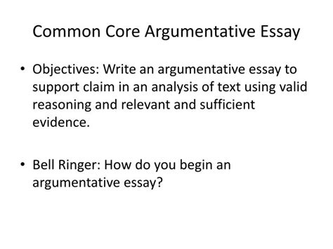 Writing An Argumentative Essay Powerpoint by Ppt Common Argumentative Essay Powerpoint Presentation Id 2470687