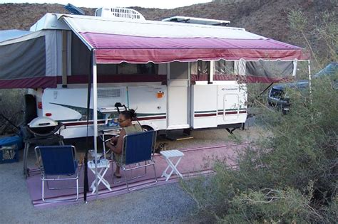 Shademaker Awning by How To Level And Stabilize A Tent Trailer
