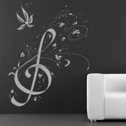 Music Wall Art Stickers Floral Music Note Music Wall Art Decals Wall Stickers