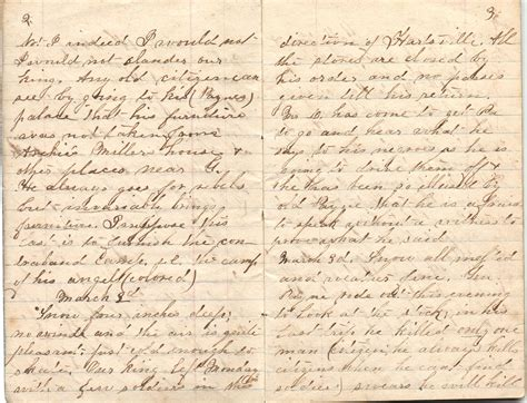 pages of williamson diary pages 2 and 3