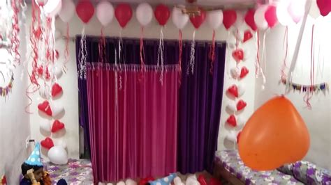 birthday room decoration youtube