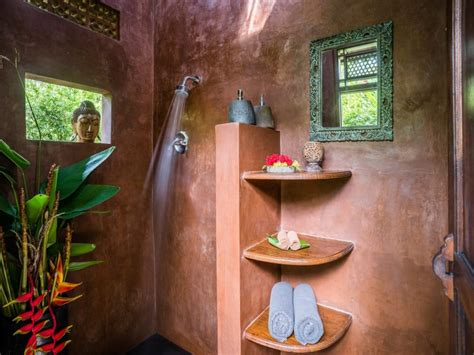 buddha bathroom home bali eco stay nurtured by nature