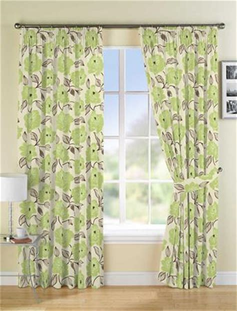 Green And Yellow Curtains Decorating Liberty Lined Green Curtains Harry Corry Limited