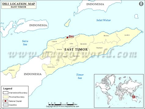 where is east timor located on the world map where is dili location of dili in east timor timor