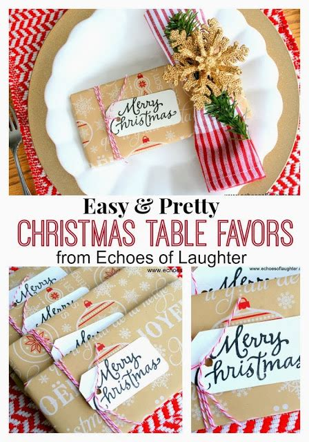 pretty christmas table favors or gifts echoes of laughter