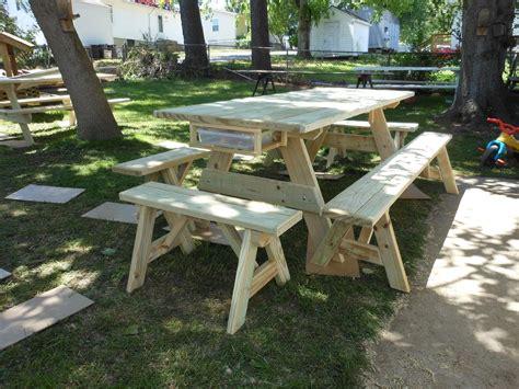 Handmade Picnic Table - handmade custom picnic tables by davis custom woodworks