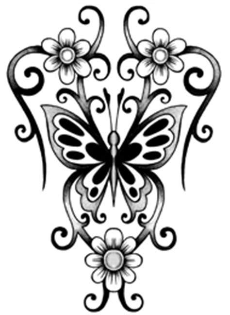 fiori tribali disegni tatuaggi farfalle