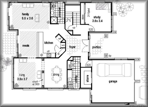 Floor Plans Real Estate Investments Plans 4 Bed Floorplans Free House Plans Metric