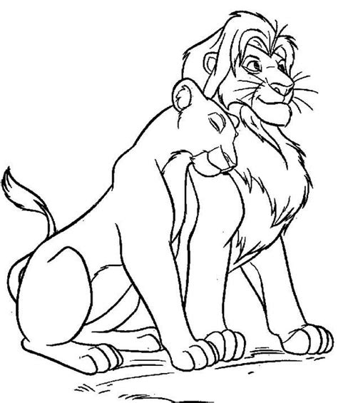 easy lion king coloring pages mufasa clipart coloring page pencil and in color mufasa