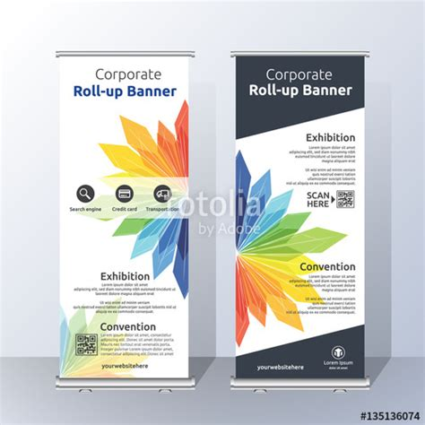 Credit Roll Template quot vertical roll up banner template design for announce and