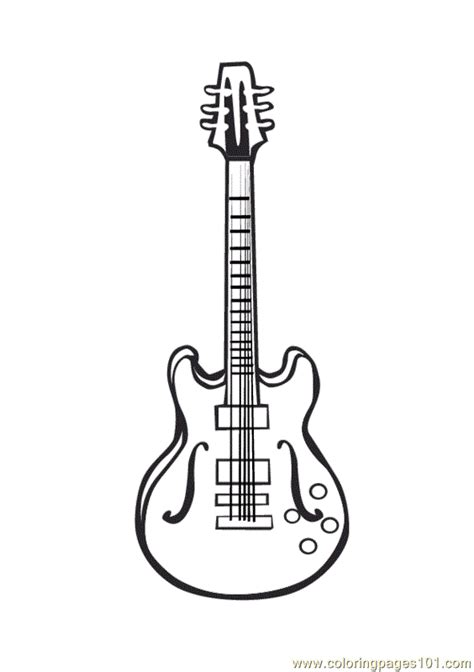 large guitar coloring page free coloring pages of guitar