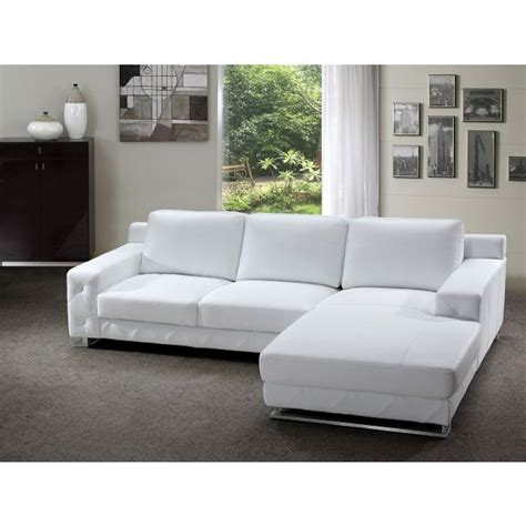 delta modern white leather sectional sofa