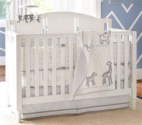 Organic Nursery Bedding Sets Organic Reese Nursery Bedding Set Pottery Barn