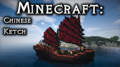 minecraft asian boat minecraft chinese ship tutorial junk ketch rig youtube