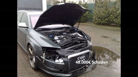Audi A6 Unfallwagen by Unfall Audi Rs6 V10 Biturbo Crash Youtube