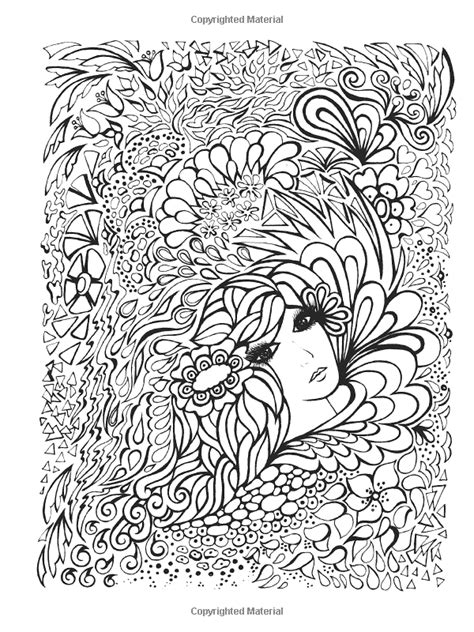Creative Haven Fanciful Faces Coloring Book | Coloriages