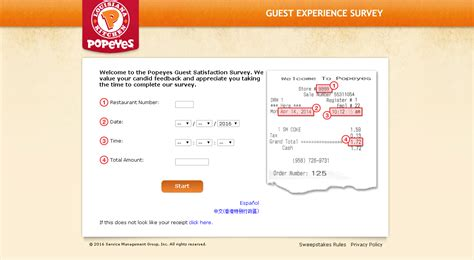 Tellpopeyes Com Sweepstakes - tellpopeyes survey guide customer survey assist
