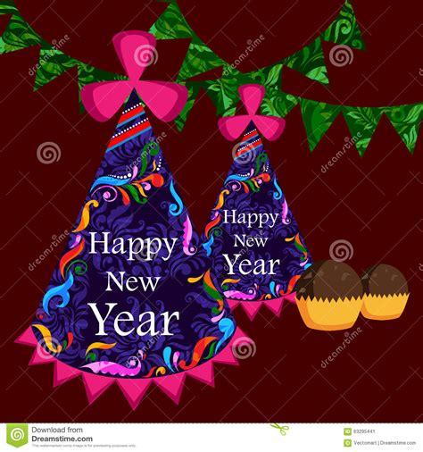 celebrations of happy new year happy new year celebration background stock vector image