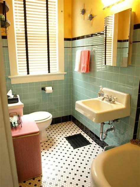 le th 232 me du jour est la salle de bain r 233 tro carrelage