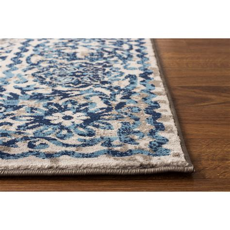 Blue Area Rug Area Rugs Artifact Gray Blue Area Rug Wayfair