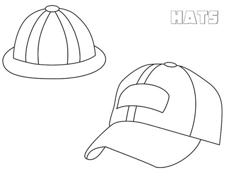 Caps And Hats Coloring Hats Coloring Pages