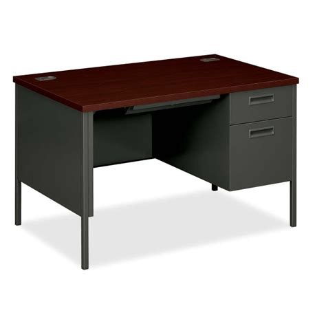 Hon Single Pedestal Desk printer