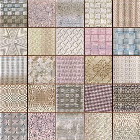 Patchwork Effect - fabric tiles patchwork mosaic effect tiles 333x333x9mm tiles