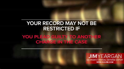 Does A Dui Count As A Criminal Record Record Restriction Dui Jim Atlanta Dui Lawyer