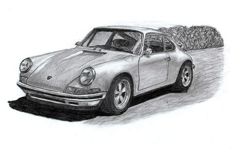 porsche drawing porsche 911 sportcar drawing by kokas