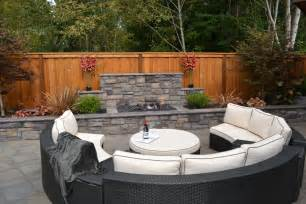 patio fire pit ideas exterior rustic with aspen tree