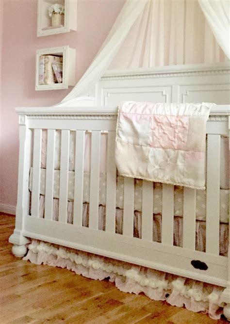 Heidi Klum Crib by A Pink And Grey Nursery That Soothes And Calms A Princess
