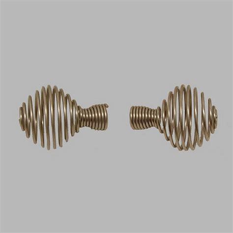 gordijnroede bol eindknop veer bol gordijnroede 20 mm zilver l 9 cm 2 stuks